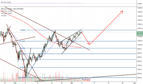 BTCUSD: Bitcoin will retrace to $10,000 and then rocket.