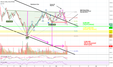 BTCUSD: IMPORTANT: Here Is The Worst Case BITCOIN-Scenario - And 3 More!