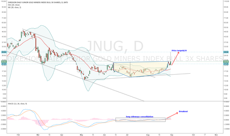 JNUG: JNUG-Breakout after a long period of sideway consolidation.
