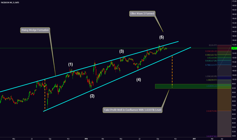 FB: FB Elliot Wave Rising Wedge Formation
