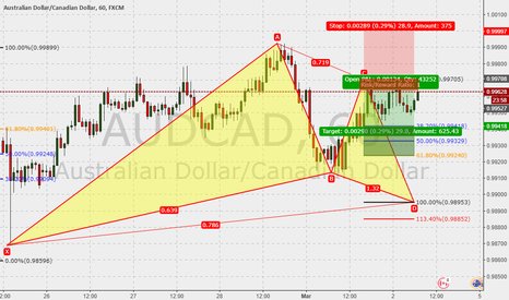 AUDCAD: AUDCAD 60m : Gartley in the make