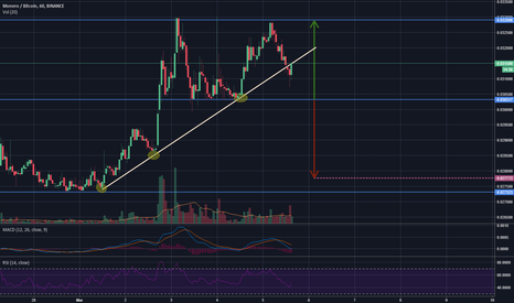 XMRBTC: XMR forming double top on short term range