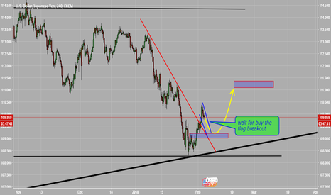 USDJPY: wait for long the flag breakout