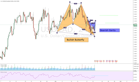 USDCAD: Butter fly Followed by a Gartly