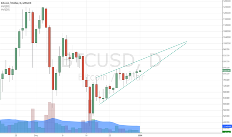 BTCUSD: Large Bearish Rising Wedge