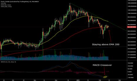 DASHUSD: DASH/USD - on daily chart