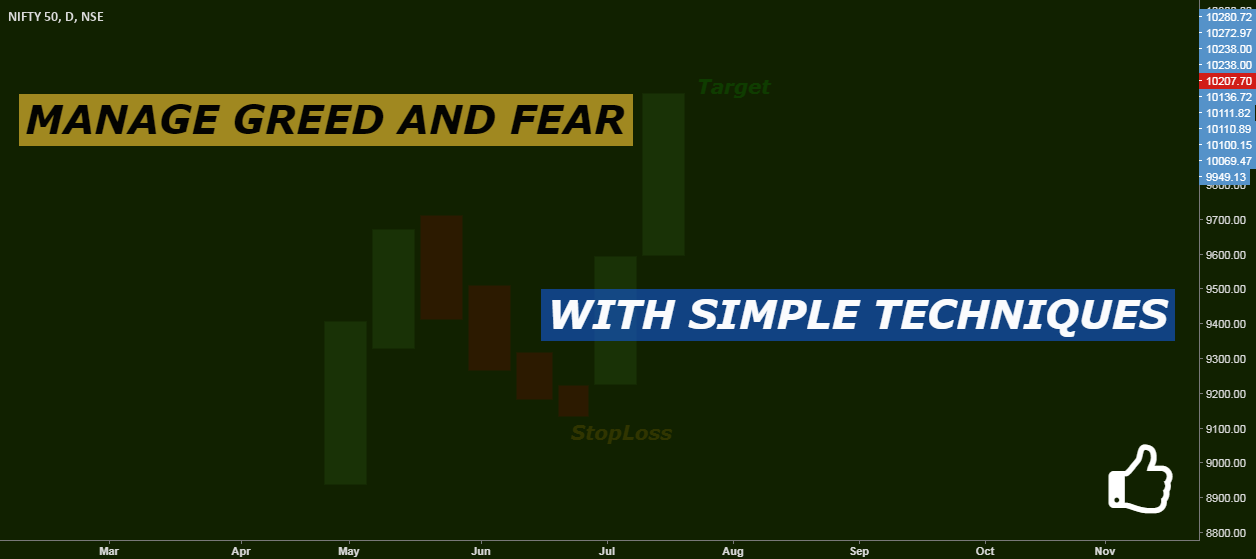 Manage Greed And Fear with Simple Techniques