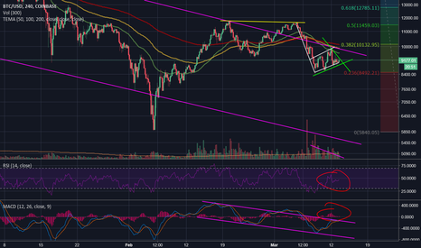 BTCUSD: All Indicators and Patterns Showing Bearish Trend for BTC