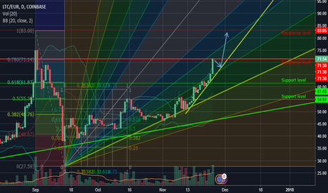 LTCEUR: LTC/EUR currently testing resistance level, continuing bull run?