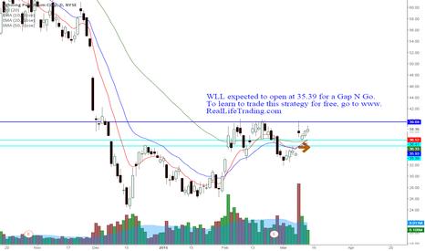 WLL: WLL Day Trade Gap N Go (Brad Reed Mar13,2015)