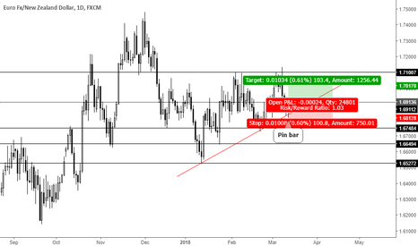 EURNZD: Trend continuation pin bar