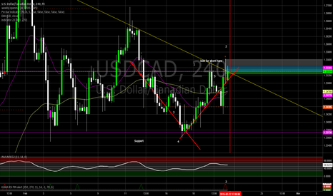 USDCAD: Possible Short on Price Action and Pin Bar