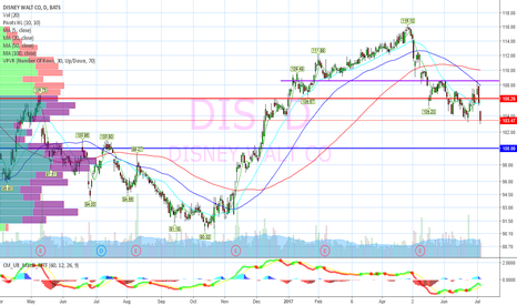 DIS: Lost support, target 100