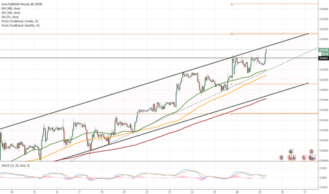 EURGBP: EUR/GBP 1H Chart: Channel Up