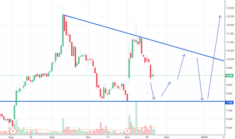 AAC: AAC is in a flat line triangle pattern