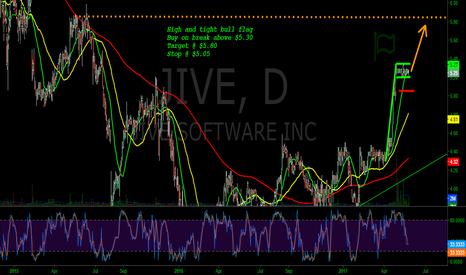 JIVE: JIVE - High and tight bull flag Buy on break above $5.30