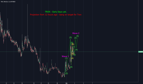 TRXBTC: Continuation of Elliot Wave TRON targets, 100% success so far