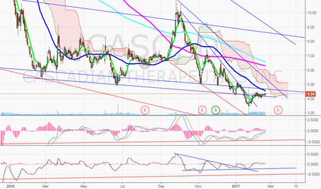 CASC: $CASC Post split, watching 50MA break