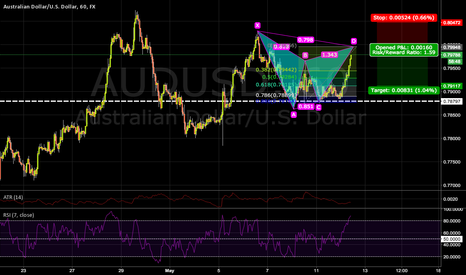 AUDUSD: Gartley Pattern with Forexviewers.com