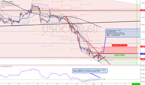 USDCAD: USDCAD, possible more weakness ahead until NFP Friday...