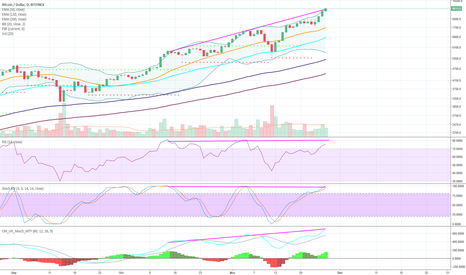 BTCUSD: 1d BTC: Oscillators showing few signs of div on way to 10k