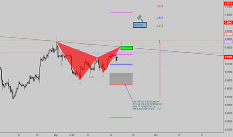 USDCHF: Gartley Bearish (long-short setup)