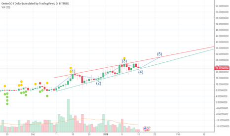 OMGUSD: OMG Elliot Wave to hit $29 in the next 8 days! 30% return!