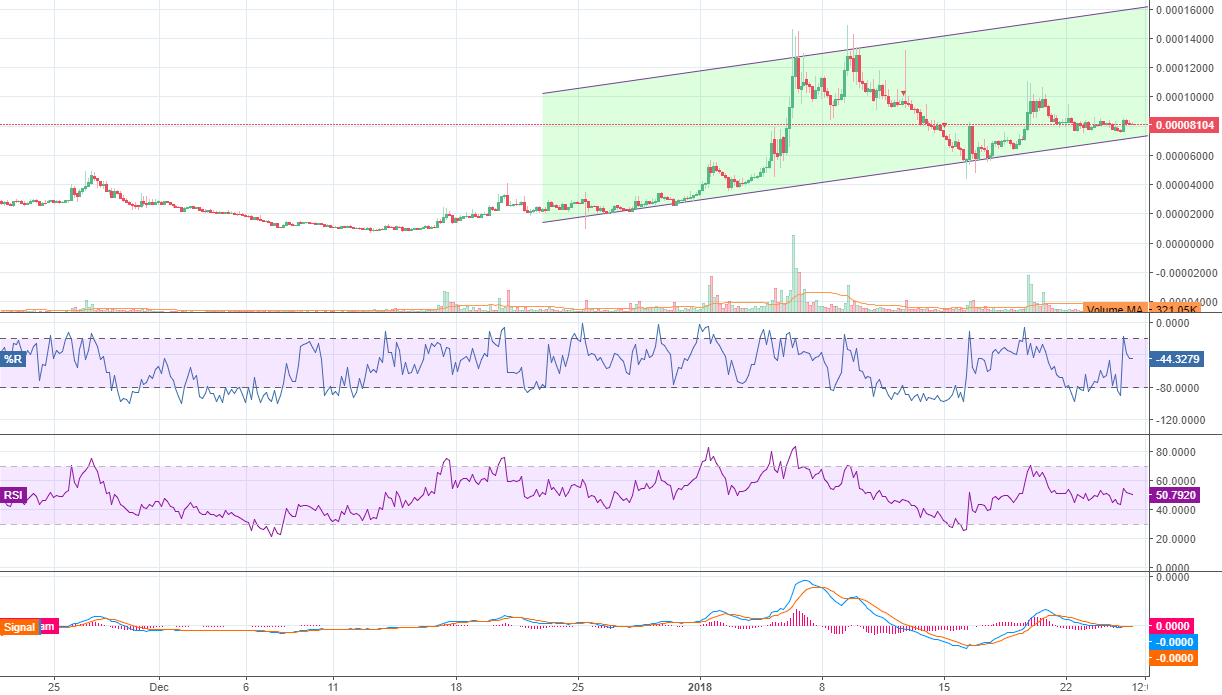BCPT is still showing bullish signal, you can open the position