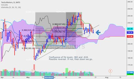 TSLA: TSLA possible reversal at fib confluence levels
