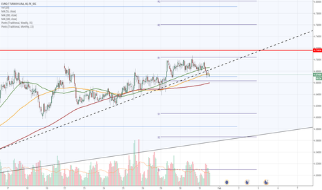 EURTRY: EUR/TRY 1H Chart: Breached up-trend