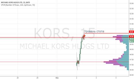 KORS: KORS продажа 49.50