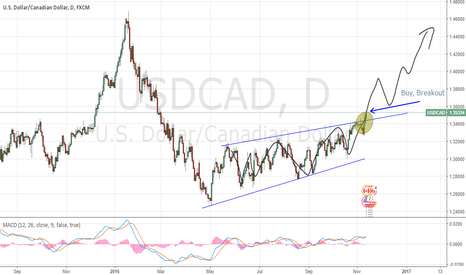 USDCAD: USDCAD Breakout dayly