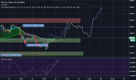 BTCUSD: btc is about to test the top resistance