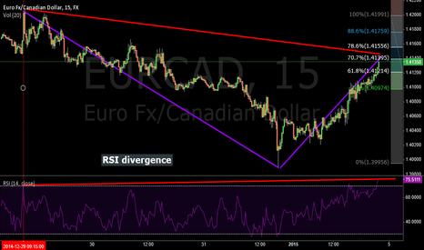 EURCAD: Fib. Retracement, RSI Divergence