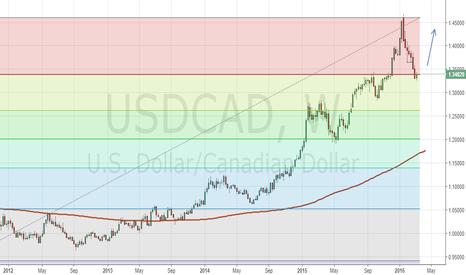 USDCAD: USD/CAD hit 23.6 Fibonacci retracement on weekly chart.