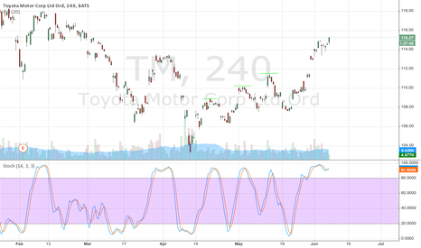 TM: Getting Close to Predicted High Watch for Dip to Buy
