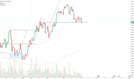 BTCUSD: BTC:USD 1 hour chart DAILY UPDATE (Day 11)