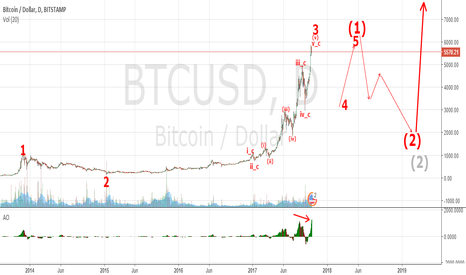 BTCUSD: Elliott Wave Analysis of BTC/USD Long-Term Outlook