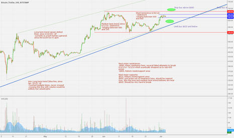 BTCUSD: 7/3/2014 Current Trend Analysis