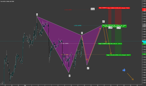 EURUSD: EUR USD Gartley Point C & D coming? Short Setup