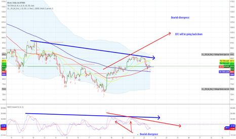BTCUSD: Bearish divergence - will be going down later
