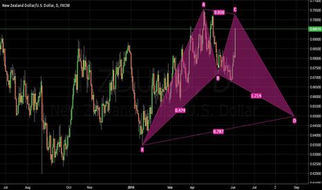 NZDUSD: NZDUSD: Potential Gartley Pattern (Dual opportunities)