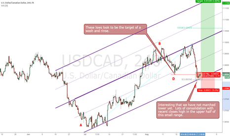 USDCAD: USDCAD Wash and Rinse - long chance after July strong leg up