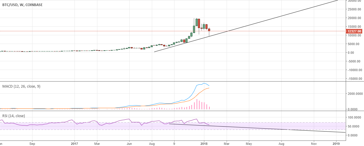 BTC bearish divergence on weekly and daily TF