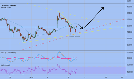 LTCUSD: LTC going up ! (Double Bottom)