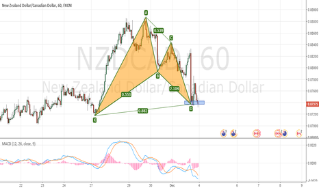 NZDCAD: NZDCAD: Potentially a quick bounce as it completes a Bullish Bat