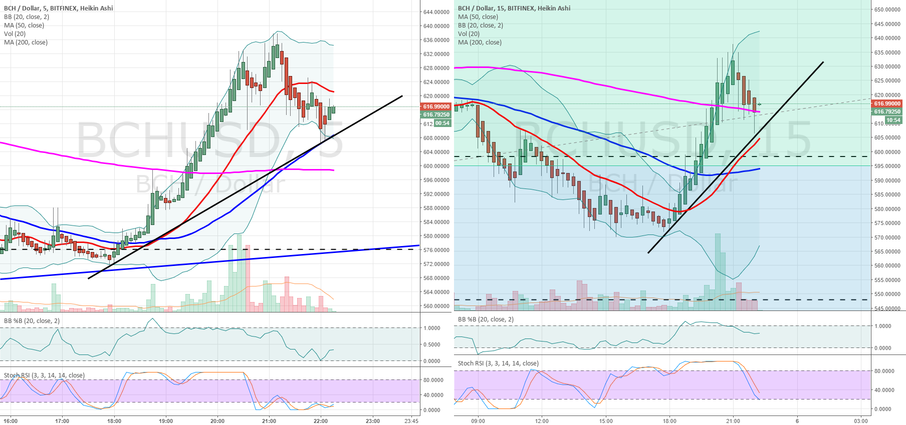 BCHUSD landing on support