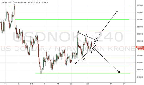 USDNOK: USDNOK trade the breakout on strong triangle