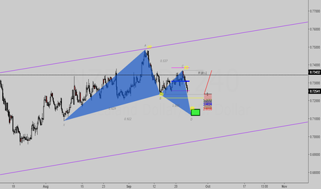 NZDUSD: Possible Gartley ABCD's (short-long setup)