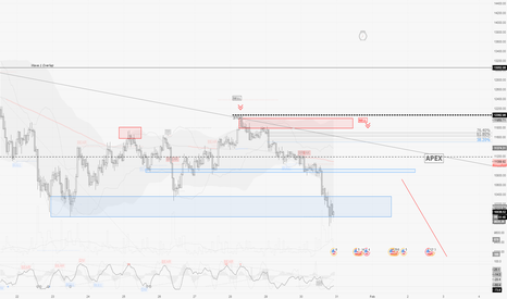 BTCUSD: BTCUSD / D1-H1 : Video Forecast from what happened today...
